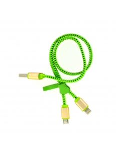 2 in 1 Zipper USB  for iPhone & Android